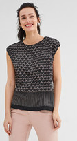 Esprit Flowing, mixed material printed top