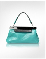 All in 1 - Two-tone Leather Clutch w/Strap