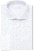 Richard James White Slim-fit Cutaway-collar Micro-dot Cotton-poplin Shirt - White