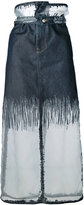 Diesel high waisted skirt - women - Cotton/Nylon - 24