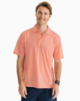 Southern Tide Striped brrr Driver Performance Polo