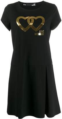 Love Moschino heart printed T-shirt dress