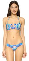 Mara Hoffman Flight Azure V Wire Bikini Top
