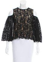 Vilshenko Lace Cold-Shoulder Top