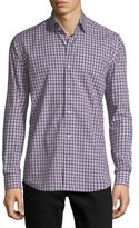 Neiman Marcus Plaid Long-Sleeve Sport Shirt
