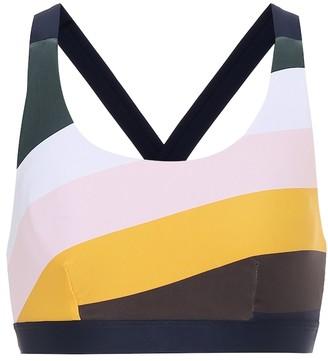 The Upside Sunrise Lottie striped sports bra