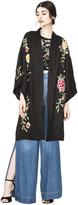 Alice + Olivia Lupe Embroidered Long Kimono