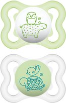 Mam Air 0+ Month Soother 2 pack (Green/Clear)