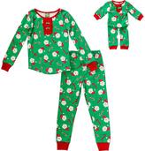 Dollie & Me Green & Red Santa Hat Pajama Set & Doll Outfit - Toddler & Girls