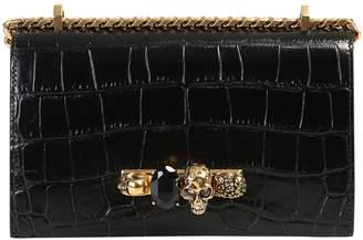 Alexander McQueen Crocodile Print Bag