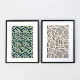 west elm Framed Handmade Paper Wall Art - Abstract Lines