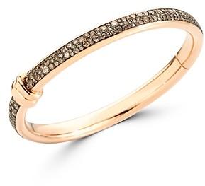 Pomellato 18K Rose Gold Iconica Brown Diamond Bangle Bracelet