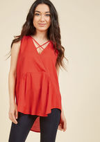 ModCloth Spare Time Works Wonders Sleeveless Top in L