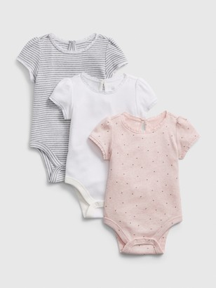 Gap Baby First Favorite Short Sleeve Bodysuit (3-Pack)