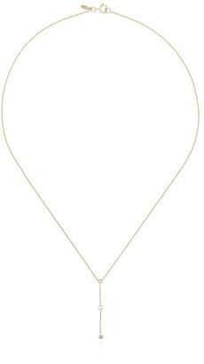 Xiao Wang 14kt yellow gold Dot Dot diamond drop necklace