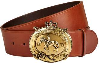 Ralph Lauren Purple Label Logo Plaque Leather Belt