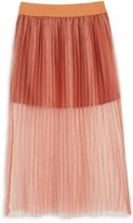 Bardot Junior Girls' Pleated Mesh Skirt