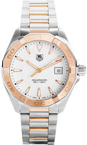 Tag Heuer Way1150.bd0911 Aquaracer Rose-gold And Stainless Steel Watch
