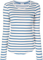 Closed fitted striped top