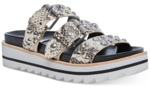STEVEN NEW YORK Caia Studded-Strap Footbed Sandals