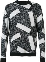 Julien David intarsia knit jumper