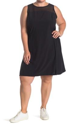 Z By Zella Balance Mesh Yoke Woven Workout Dress (Plus Size)