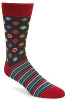 Bugatchi Dot & Stripe Socks
