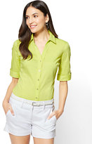 New York & Co. 7th Avenue - Madison Stretch Shirt - Elbow-Length Sleeve