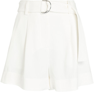 A.L.C. Bronson Belted Crepe Shorts