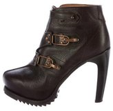 Rag & Bone Leather Platform Ankle Boots