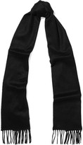 Johnstons of Elgin Fringed Cashmere Scarf - Black