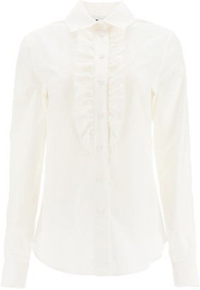 Moschino Ruffle Detail Button Up Shirt