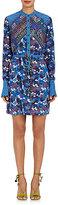 Saloni Women's Leigh-B Floral Silk Shirtdress