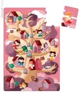 Janod Giant fairy tree puzzle