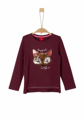 S'Oliver Girls' 53.909.31.8963 Longsleeve T - Shirt
