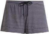 SKIN Striped jersey pyjama shorts