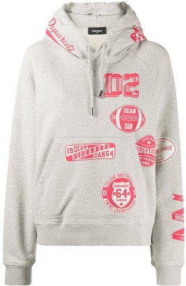 DSQUARED2 Relaxed-Fit Logo-Print Hoodie