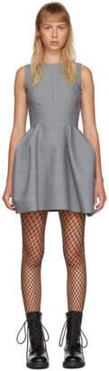 we11done Grey Open Back Short Dress