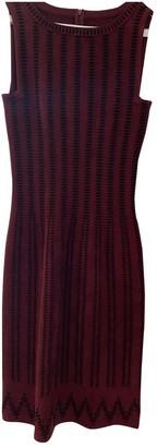 Alaia Burgundy Wool Dresses
