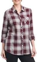 Foxcroft Petite Women's Addison Plaid Shirt