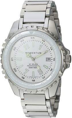 Momentum Women's Japanese-Quartz Diving Watch with Stainless-Steel Strap Silver 13 (Model: 1M-DN63WS0)