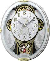 Disney ( rhythm clock ) Mickey u0026 Friends M509 ( radio automaton clock ) white 4MN509MC03