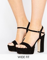 e07e79760 Asos HIGHER LOVE Wide Fit Platform Sandals