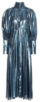 Ellery Contained Voluminous Sleeve Metallic Dress