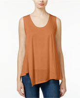 Rachel Roy Draped Asymmetrical Tank Top, Only at Macy's