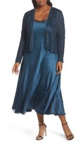 Komarov Plus Size Women's Lace Front Dress With Jacket