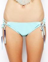 Bikini Lab Fringe Ferdinand Adjustable Hipster Bikini Bottoms