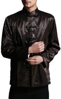 Interact China Classic Chinese Tai Chi Kungfu Jacket Blazer - Lightweight Silk Blend M