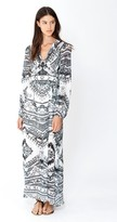 Hale Bob Anastazy Silken Maxi - Preorder Only In Black and White