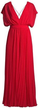 Fame & Partners The Adina Draped Pleated Jumpsuit